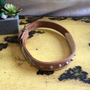 "22"" Leather Dog Collar NWOT"